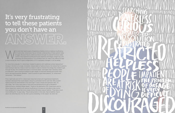 Handlettering for annual report
