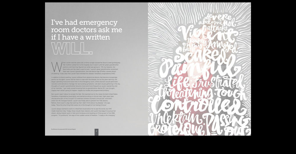 Hand lettering for annual report